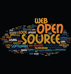 The benefits of open source text background word vector