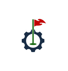 tool golf logo icon design vector image