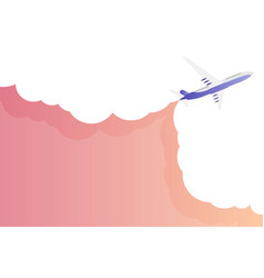travel background with airplane and sky with cloud vector image