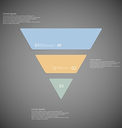 Triangle infographic template consists of three vector