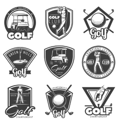Vintage Golf Labels Set vector