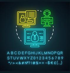 Webinar neon light icon e-learning web-based vector