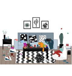 When party is over messy room vector
