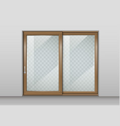 wooden sliding door vector image