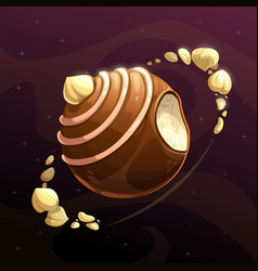 chocolate candy planet vector image