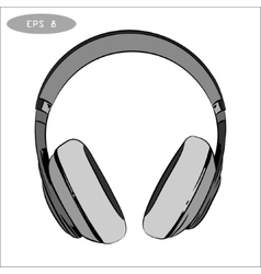 hand-drawn sketch of headphones 1 vector image vector image