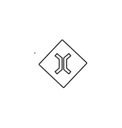 narrow road sign icon vector image