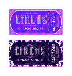 Template for circus ticket vector