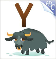 Animal alphabet for the kids Y for the Yak vector image vector image
