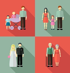 Family figure collection vector image vector image