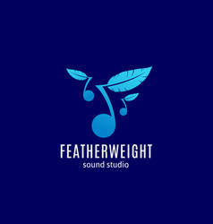 featherweight sound studio abstract sign vector image
