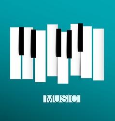 Music Symbol - Piano and Keybord vector image