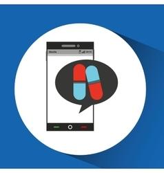 Phone online health pharmacy vector