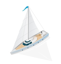 Sailing Ship Yacht Isometric View vector image vector image