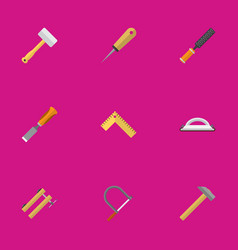 set of 9 editable tools icons includes symbols vector image vector image