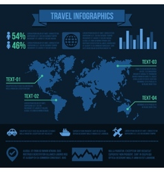 Travel Infographics vector image vector image