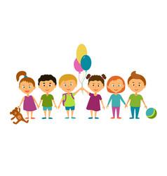 children cartoon characters vector image