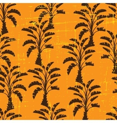 seamless pattern of palm trees vector image vector image
