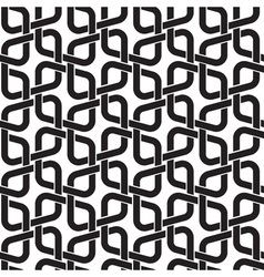 Celtic seamless pattern of black lines vector image