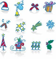 Christmas utilities vector image vector image