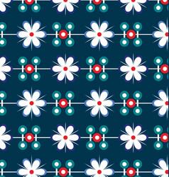 flowers geometry pattern vector image vector image