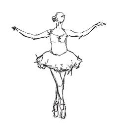 Hand drawn Ballerina dance vector image