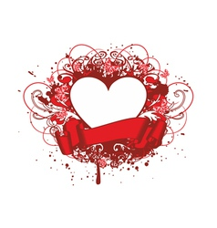 heart with paterns vector image vector image