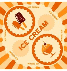 Ice cream label design vector image