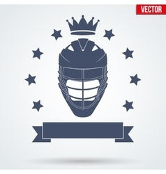 Lacrosse Club Badge and Label vector image vector image