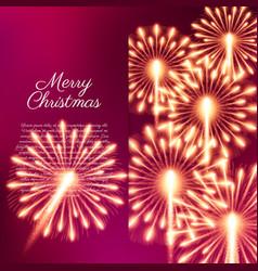 merry christmas fireworks vector image
