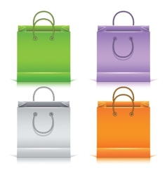Set of the colorful paper shopping bags vector image