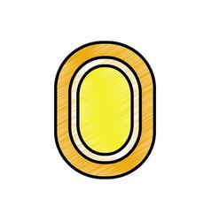 video game coin fortune treasure icon vector image vector image