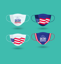 2020 presidential election mask design template vector