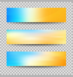 abstract colorful banner set designs eps10 vector image