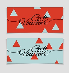 Abstract gift voucher or coupon design template vector image
