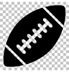 American simple football ball Flat style black vector image