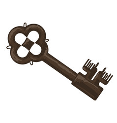 ancient metal keys with thorns and decoration vector image