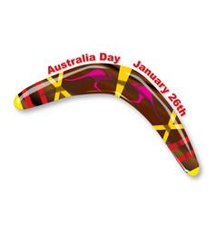 Australia day decorated boomerang vector