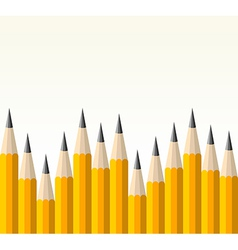 Back to school yellow pencil pattern vector image