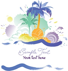 Background with Tropical Beach vector image