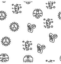 Bacteria infection seamless pattern vector