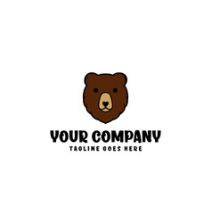 Bear head for logo designs editable vector
