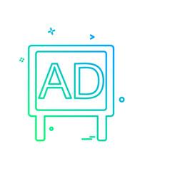bill board icon design vector image