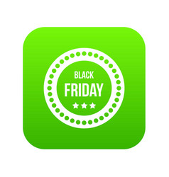 black friday sticker icon digital green vector image