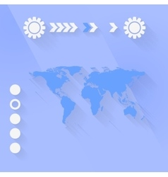 Blue purple flat minimal tech background vector image