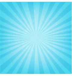 blue sunburst poster vector image