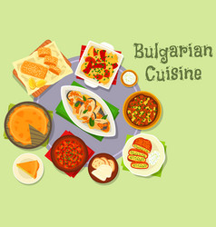 bulgarian cuisine dinner icon for food design vector image