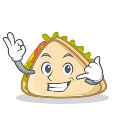 Call me sandwich character cartoon style vector