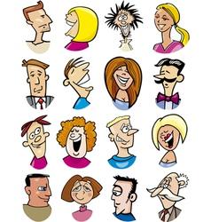 Cartoon people characters vector