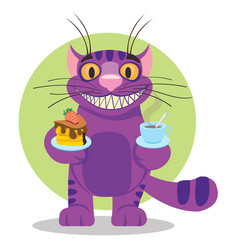 cheshire cat to the fairy tale alices adventures vector image